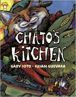 CHATO'S KITCHEN by GARY SOTO // Chato is a scheming cat who attempts to lure a mouse family for dinner by preparing a delicious Mexican feast.