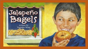 JALAPENO BEGELS by NATASHA WING // One of the few biracial storylines (womp, womp) about a young boy's struggle and triumph to reconcile his multiracial food identity.